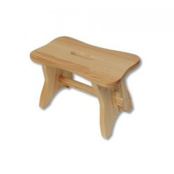 Stolček z borovicového dreva