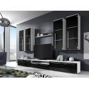 Obývacia stena BARI s modrým osvetlením