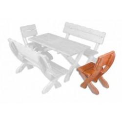 Masívna záhradná stolička MO105