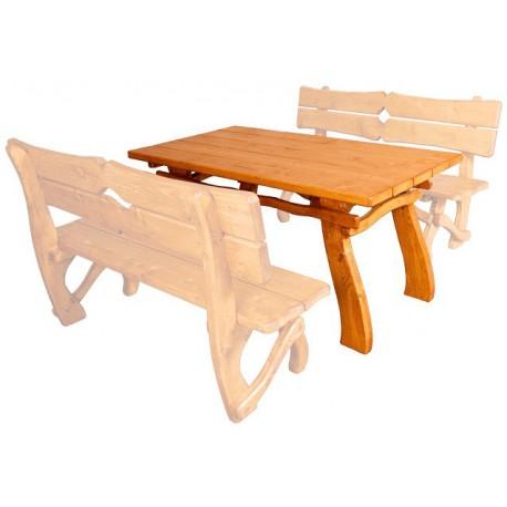 Masívny záhradný stôl MO241
