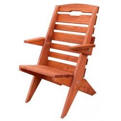 Záhradná masívna stolička MO108