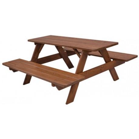 Záhradný masívny stôl s lavicami MO260
