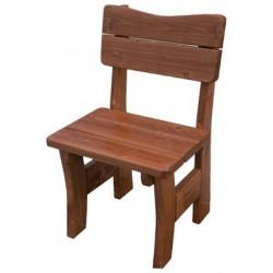 Masívna lakovaná stolička MO262