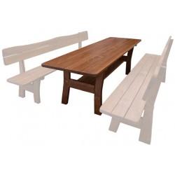 Masívny lakovaný stôl do záhrady MO261