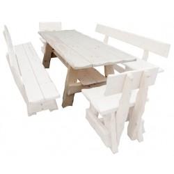 Masívny lakovaný stôl do záhrady MO266