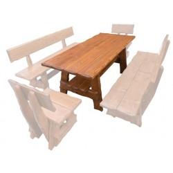 Masívny lakovaný stôl do záhrady MO268