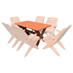 Masívny záhradný stôl MO109