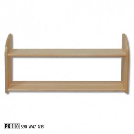Praktická drevená dvojpolička PK110