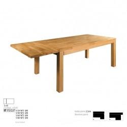 Rozkladací stôl z bukového dreva s hrúbkou vrchnej dosky 2,5 cm ST172