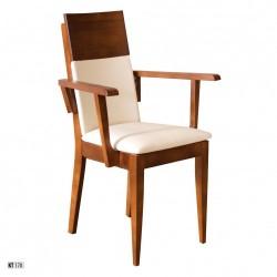 Stolička s čalúnením a masívnou konštrukciou KT170