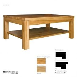 Dubový stolík s úložným priestorom s hrúbkou platne 4 cm ST310