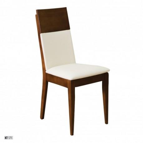 Stolička s čalúnením a masívnou konštrukciou KT171