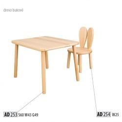 Masívna detská stolička AD254