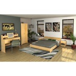 Masívna borovicová  posteľ  Lagerkvist