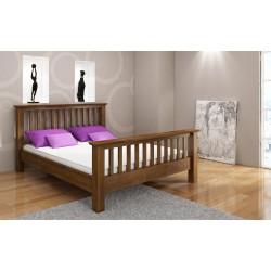 Masívna buková manželská posteľ LINDGREN dub