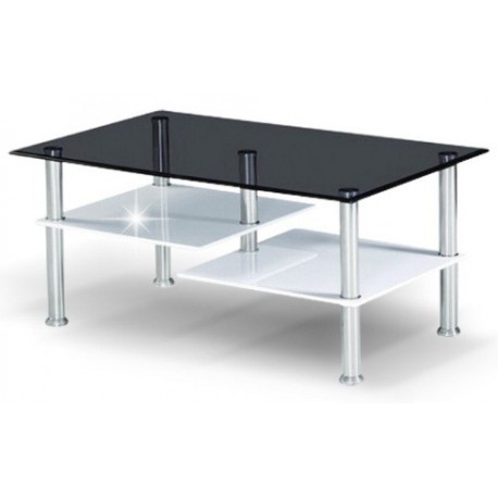 Konferenčný stolík s čiernym sklom