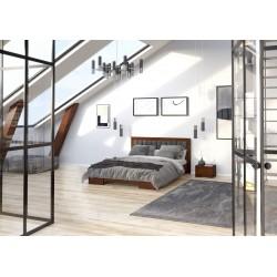 Masívna borovicová manželská posteľ GOTLAND