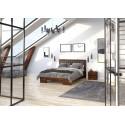 Vyššia borovicová manželská posteľ GOTLAND