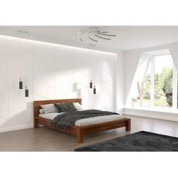 Manželská posteľ z borovicového masívu MOLDE