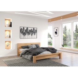 Manželská posteľ z bukového masívu MOLDE
