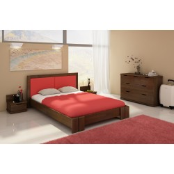 Manželská posteľ z borovicového masívu KRONOBERG