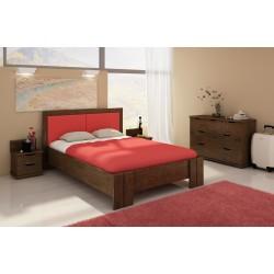 Vyššia manželská posteľ z buku KRONOBERG