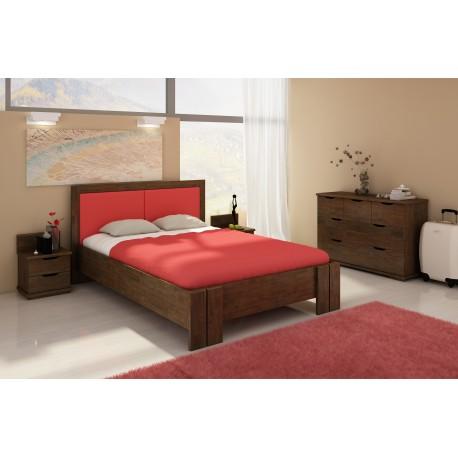 Vysoká manželská posteľ z borovice KRONOBERG
