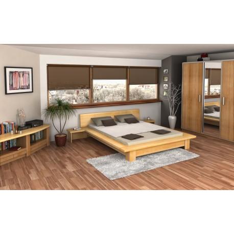 Manželská posteľ z borovice BERGEN
