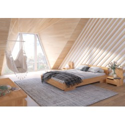 Dlhá manželská posteľ vyrobená z buku - 220 cm