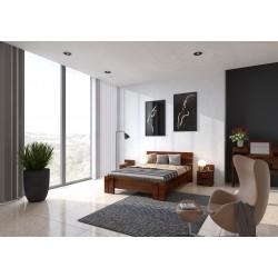 Dlhá a vysoká posteľ z borovice ARHUS
