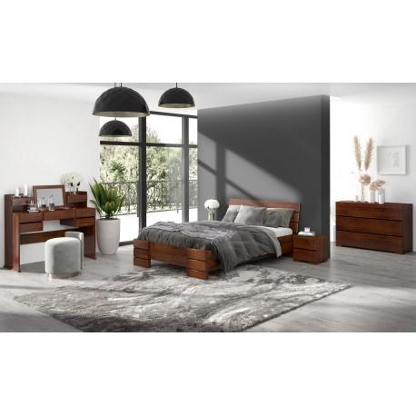 Vyššia posteľ z borovice SANDEMO