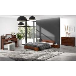 Dlhá posteľ z borovice SANDEMO