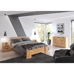 Vyššia posteľ ARHUS z buku s úložným priestorom