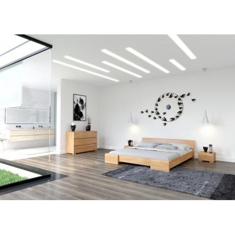 Masívna posteľ z bukového dreva HESSLER