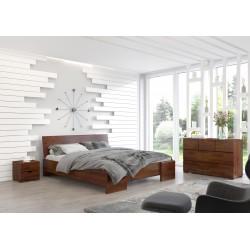 Vysoká masívna posteľ z borovice HESSLER