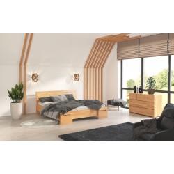 Vyššia masívna posteľ z buku SALERNO