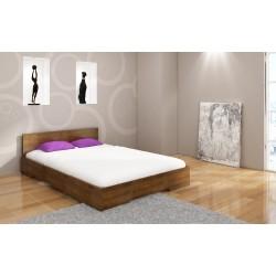 Manželská posteľ z borovice LOREN morenie dub