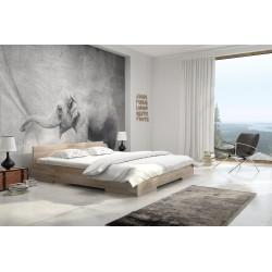Manželská posteľ z buku LOREN prírodné morenie