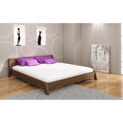 Manželská posteľ z borovice ROCCO morenie orech