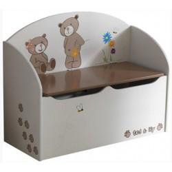 Drevotriesková krabica na hračky