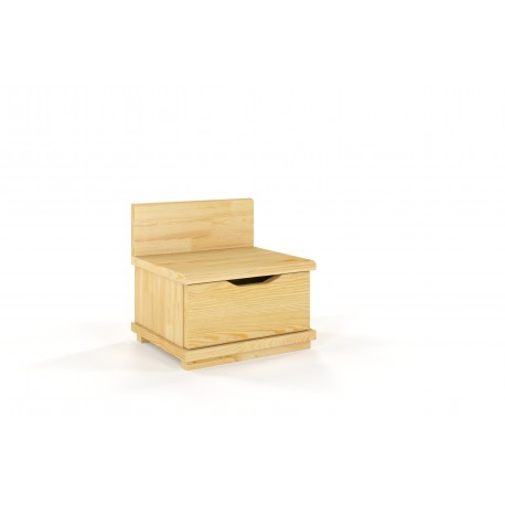 Nočný stolík z borovicového dreva ARHUS prírodné morenie