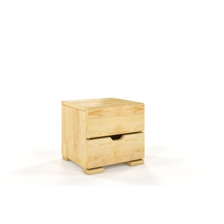 Vyšší nočný stolík HESSLER z borovicového dreva prírodné morenie