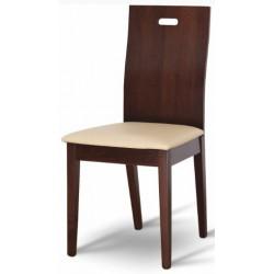 Masívna stolička s plným operadlom