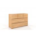 Komoda z bukového dreva SALERNO s piatimi zásuvkami