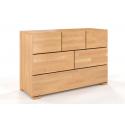 Komoda z bukového dreva so šiestimi zásuvkami