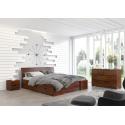 Masívna posteľ z borovice s úložným priestorom HESSLER