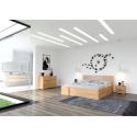 Masívna posteľ z buku s úložným priestorom HESSLER