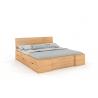Masívna posteľ z buku prírodné morenie