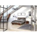 Vyššia buková manželská posteľ GOTLAND  s úložným priestorom