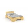 Vysoká borovicová posteľ ARGENTO prírodné morenie